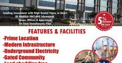 Apartment available for sale at Shelters Arcade Bahria Enclave Islamabad